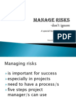 Manage Risks in projects