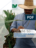 Guide to Evaluating Rural Extension