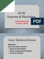 As PE Lesson 2 Bones 2013-14