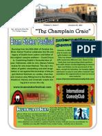 Champlain Craic October 8th 2013