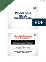 PSICOLOGÍA DE LA EMERGENCIA