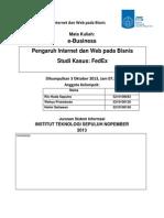 E-Commerce FedEx dan Perusahaan Indonesia di Bidang yang sama