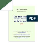 ODIER Charles - Les Deux Sources Consciente Et Inconsciente de La Vie Morale (1943)