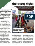 Het Nieuwsblad - 08/10/2013 - Positieve actie wijst jongeren op veiligheid