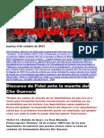 Noticias Uruguayas Martes 8 de Octubre Del 2013