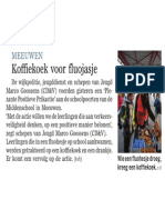 De Standaard - 08/10/2013 - Koffiekoek Voor Fluojasje