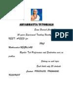 Aryabhatta Tutorials