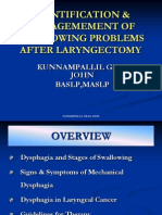 Identification & Managemement of Swallowing Problems After Laryngectomy