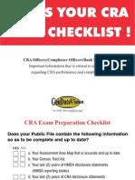 CRA Exam Checklist