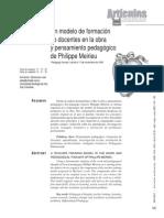 articulo1 modelo pedagógico en la obra de Phillip Meireu