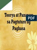 Teorya at Pananaw Sa Pagtuturo Ng Pagbasa FINAL[1]