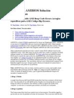 Código Bip AMIBIOS Solución de