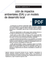 La Evaluación de Impactos Ambientales (EIA) y un Modelo de Desarrollo Local