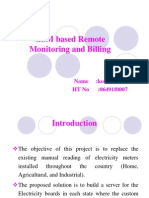 GSM Based Remote Monitoring and Billingppt