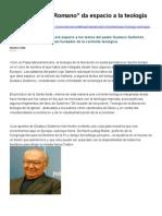 periódico de vaticano y la Teología de la Liberación Latinoamericana