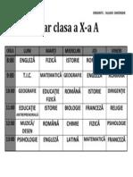 ORAR CLASA A X-A