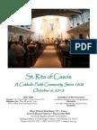 St. Rita Parish Bulletin 10/6/2013