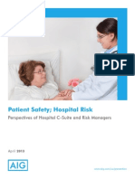 Patient Safety Hospital Risk White Paper - AIG