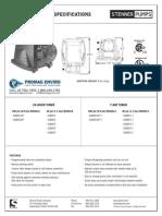Stenner BDF Series Peristaltic Metering Pump Spec Sheet
