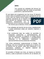 Completo Resumen de Derecho Minero