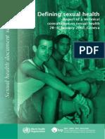 Defining Sexual Health