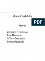 Candidates For Miami Mayor