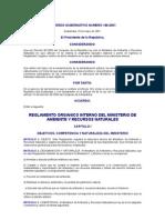 Acuerdo Gubernativo 186-2001 to Organico Interno Del Ministerio de Ambiente y Recursos Naturales