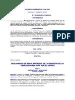 Acuerdo Gubernativo 386-2001 to de Regularizacion de La Tenencia de Las Tierras Entregadas Por e