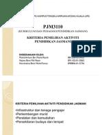 37669123 Kriteria Pemilihan Aktiviti Pendidikan Jasmani