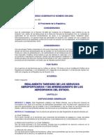 Acuerdo Gubernativo 939-2002 to Tarifario de Los Servicios Aeroportuarios y de Arrendamiento en
