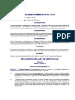 Acuerdo Gubernativo No 18-98 to de La Ley de Servicio Civil