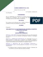 ACUERDO GUBERNATIVO No 34-94 REGLAMENTO DE LA LEY DE PROMOCION DEL DESARROLLO CIENTÍFICO Y TECNOLOGICO N