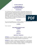 Acuerdo Numero 468 to de Prestaciones en Dinero Del Igss