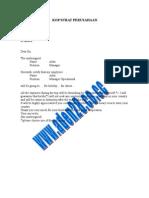 Contoh Surat an Visa