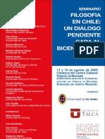 Afiche del Seminario Filosofía en Chile