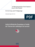 De Vroey The History of Macroeconomics from Keynes's General Theory to the Present