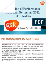 Evaluation of Performance Appraisal System at GSK,
