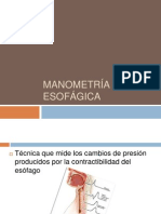 Manometria Esofagica