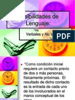 Posibilidades de Mensajes comunicación verbal y no verbal 1.ppt