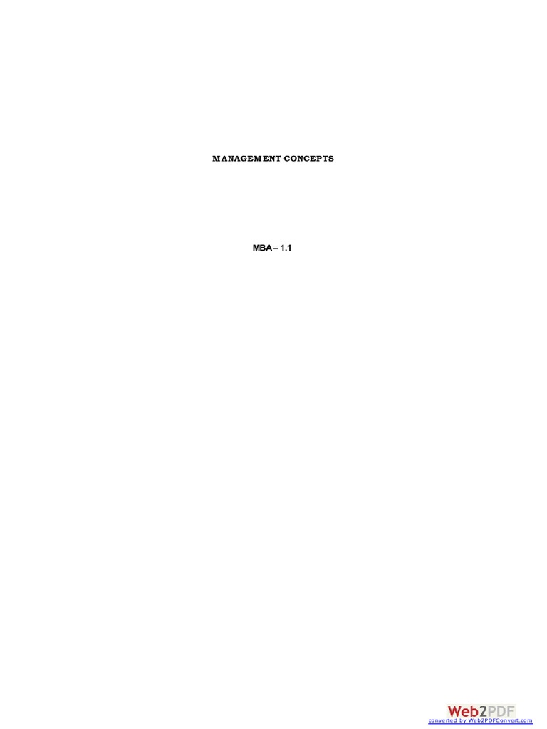 Management Concepts MBA 1.1   Scientific Method   Science