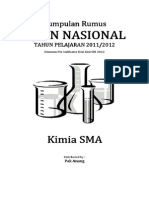 Kumpulan Rumus UN Kimia SMA 2012