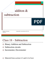 Lect 18 - Binary Addition and Subtraction