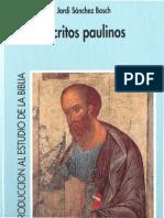 Sanchez Bosh, Jordi - Escritos Paulinos