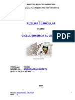 Asigurarea Calitatii-Auxiliar Curricular