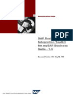SAP Business One Integration Toolkit for MySAP Business Suite -1.5 Administration Guide