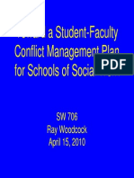 Toward a Plan for Managing Student-Faculty Conflict in Schools of Social Work