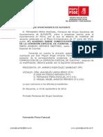 24-09-2012-Cambios en Comisión Especial Cuentas Grupo Municipal Socialista