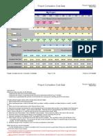 Cumulative Cost Curve Percent Sample Data