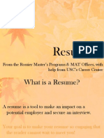 Resume & Cover Letters
