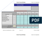 Vendor Proposal Ratings Form